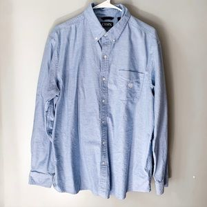 Chaps Chambray Oxford Dress Shirt | XL